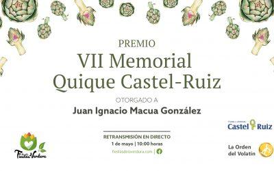 Juan Ignacio Macua recibirá el Premio Memorial Quique Castel-Ruiz  por su aportación técnica a la producción de hortalizas y, en especial, a la Alcachofa Blanca de Tudela